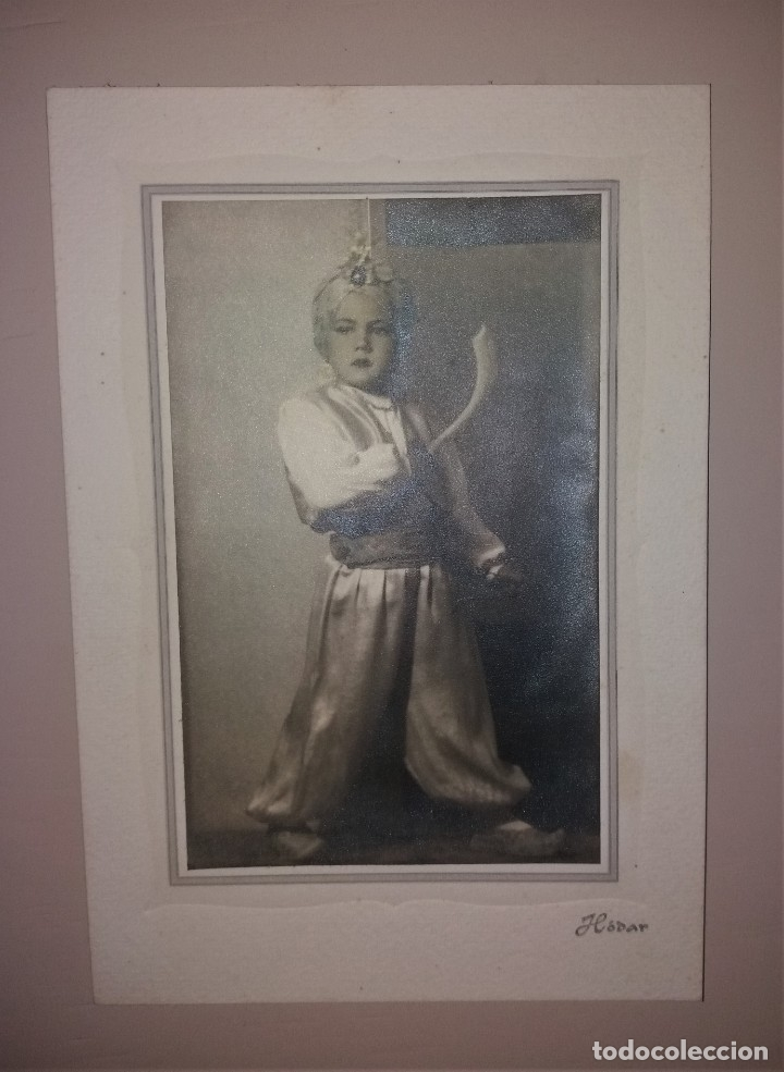 Fotografía antigua: Fotografía antigua. Niño con traje de moro (moros y cristianos), Alicante, años 30-40. Hodar - Foto 3 - 183198482
