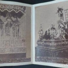 Fotografía antigua: SEVILLA SEMANA SANTA HACIA 1875 DESPLEGABLE CON 12 ALBUMINAS ALMELA FOTOGRAFO RARO. Lote 183418902