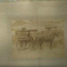Fotografía antigua: 789.- LA BONANOVA - FOTOGRAFIA ALBUMINA - CARRO CON CABALLO. Lote 183698483