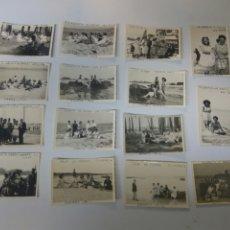 Fotografía antigua: FOTOS FOTOGRAFÍAS ANTIGUAS VILLAGARCÍA DE AROUSA PONTEVEDRA GALICIA LOTE DE 15. Lote 183703517