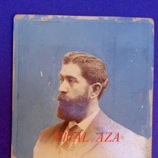 Fotografía antigua: VITAL AZA - ESCRITOR - POETA - 1890'S - FOTOGRAFIA AUDOUARD. Lote 183705830