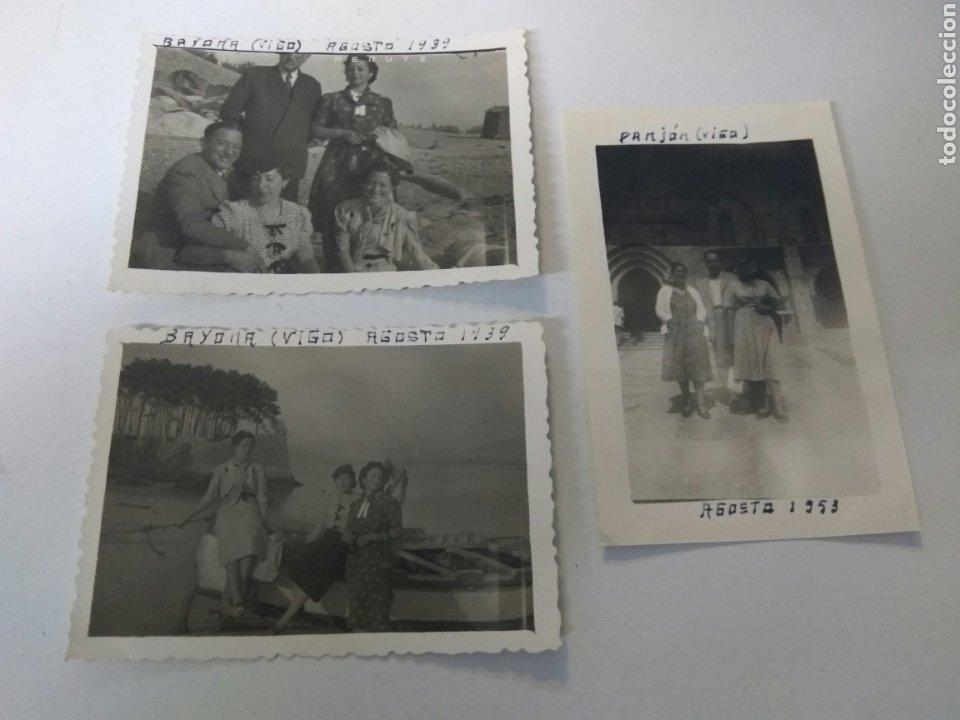 FOTOS FOTOGRAFÍAS ANTIGUAS VIGO GALICIA AÑOS 1939-1953 LOTE DE TRES (Fotografía Antigua - Albúmina)