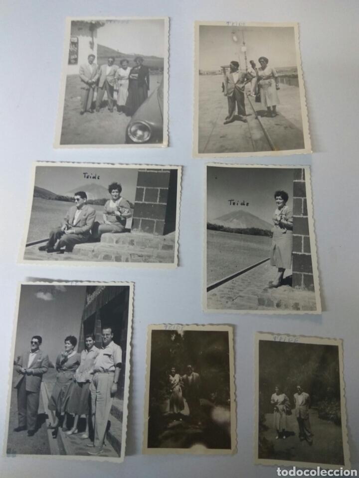 FOTOS FOTOGRAFIAS ANTIGUAS TENERIFE TEIDE AÑO 1955 LOTE DE SIETE (Fotografía Antigua - Albúmina)