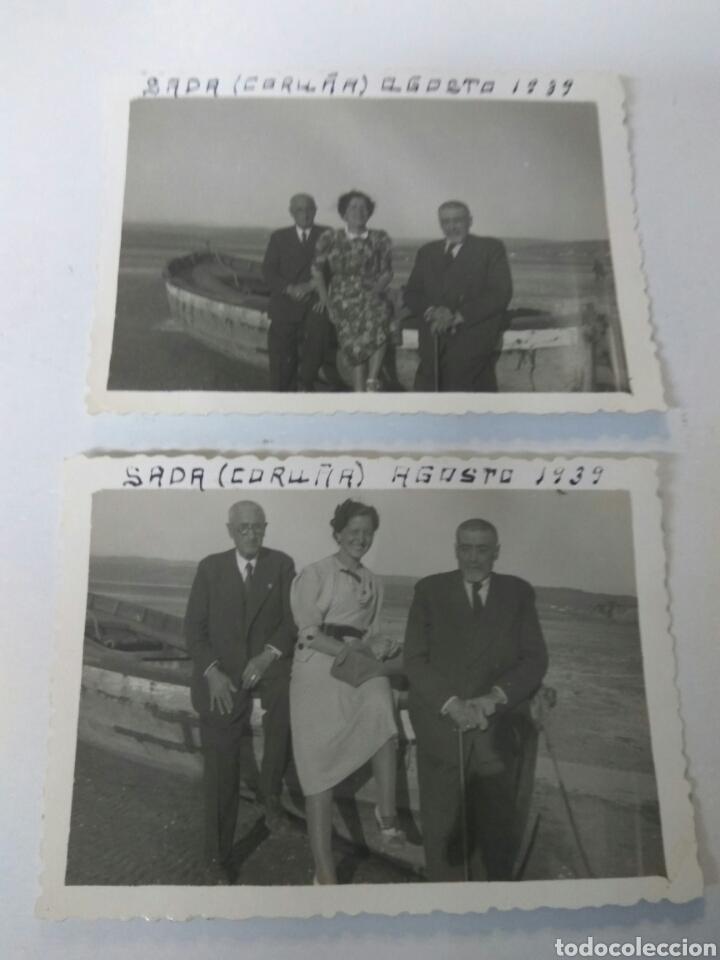 FOTOGRAFIAS SADA CORUÑA GALICIA AÑO 1939 LOTE DE DOS (Fotografía Antigua - Albúmina)
