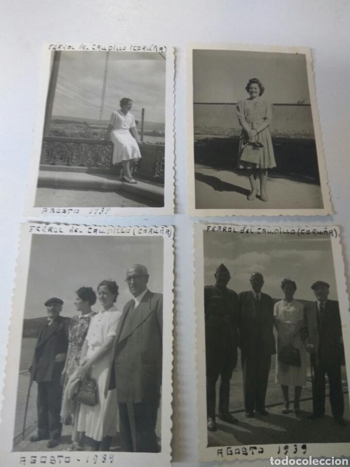 FOTOGRAFIAS ANTIGUAS FERROL DEL CAUDILLO CORUÑA AÑO 1939 LOTE DE CUATRO (Fotografía Antigua - Albúmina)