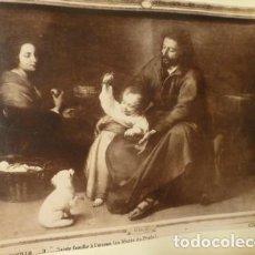 Fotografía antigua: MADRID MUSEO DEL PRADO LA NATIVIDAD Y LA SAGRADA FAMILIA FOTOGRAFO J. LAURENT 2 ALBUMINAS SIGLO XIX. Lote 183741178