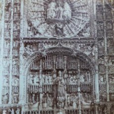 Fotografía antigua: BURGOS IGLESIA DE SAN NICOLAS DETALLE DEL RETABLO ALBUMINA SIGLO XIX 22 X 27 CMTS. Lote 183762298