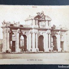 Fotografía antigua: FOTOGRAFÍA ALBÚMINA MADRID. FOTÓGRAFO J. LAURENT. PUERTA DE ALCALÁ.. Lote 183795393