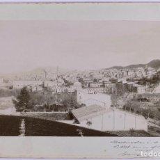 Fotografía antigua: VISTA DE ALCOY PROV. DE ALICANTE. C.1895. GRAN FOTOGRAFÍA FIRMADA POR EL FOTÓGRAFO CARLES LAPORTA.. Lote 183809828