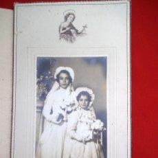 Fotografía antigua: FOTO DE DOS NIÑAS EN EL DÍA DE SU PRIMERA COMUNIÓN DE VICO MADRID. Lote 183829233