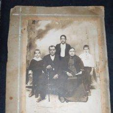 Fotografía antigua: FOTOGRAFÍA FAMILIA ANTIGUO FOTÓGRAFO J. BLANCO CASTALLA ALICANTE. Lote 183918155