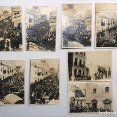 Fotografía antigua: VALENCIA EL CABAÑAL. ALBUMINA (8) FOTOGRAFÍA. LA SEMANA SANTA MARINERA (A.1929). Lote 183930566