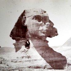 Fotografía antigua: EGIPTO - ESFINGE - SPHINX - 1870 - 1880 - FOTOGRAFIA FÉLIX BONFILS. Lote 185951248