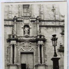 Fotografía antigua: ALCOY FACHADA DE LA IGLESIA SANTA MARIA. Lote 186067251