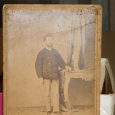 Fotografía antigua: FOTOGRAFÍA POST MORTEM DE J.F. LA FAVORITA. SIGLO XIX. 16,7 X 11,2 CM. INF. 7 FOTOS. Lote 186068355
