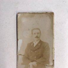 Fotografía antigua: SAN SEBASTIÁN. FOTOGRAFÍA ALBUMINA: SEÑOR CON BIGOTES. RETRATO: M. OYENARTE (H.1890?). Lote 186077563