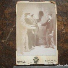 Fotografía antigua: FOTO DE GABINETE DE PLÁ, , ALICANTE. Lote 186118826
