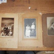 Fotografía antigua: MAGNÍFICO LOTE DE 3 FOTOGRAFÍAS ANTIGUAS DE ESTUDIO PACHECO VIGO. FINALES SIGLO XIX - PRINCIPIOS XX. Lote 186129193