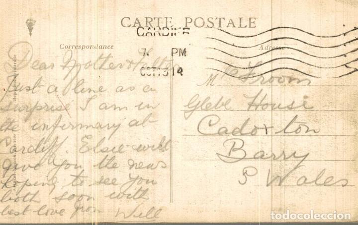 Fotografía antigua: La Guerre Européenne 1914 Nantes Groupe de soldats blessés HOPITAL TEMPORAIRE NR 3 - Foto 2 - 186281728