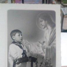 Fotografía antigua: FOTOGRAFIA RECORDATORIO PRIMERA COMUNION 1968. Lote 186319871