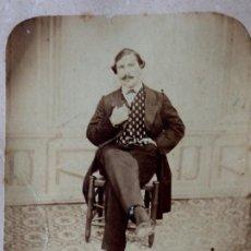 Fotografía antigua: F-4517. RETRATO CABALLERO BARCELONÉS. CIRCA 1870. . Lote 186334521