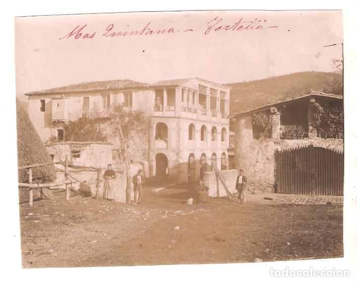 TORTELLA. GIRONA. MAS QUINTANA . 1896. 11,7 X 15 CMS. . VELL I BELL (Fotografía Antigua - Albúmina)