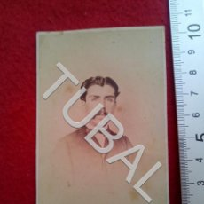 Fotografía antigua: TUBAL 1863 HOMBRE FILIPINO FILIPINAS HONISS MANILA PHILIPPINES ALBUMINA CARTE DE VISITE. Lote 189366703