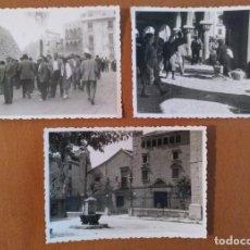 Photographie ancienne: FOTOS VIC (BARCELONA) MERCADO 1956/1957 Y HOSPITAL DE LA SANTA CRUZ 1955 10 X 7 CM (APROX). Lote 189814895