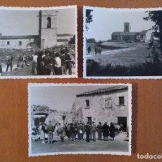Fotografía antigua: TRES FOTOS EL CORREDOR-LLINAS (BARCELONA) AÑO ABRIL 1958 10 X 7 CM (APROX). Lote 189815003
