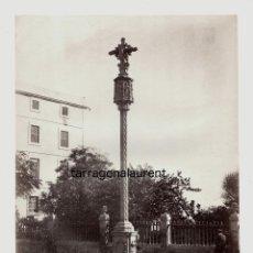Fotografía antigua: TARRAGONA - 1220. CRUZ DE SAN ANTONIO, FOTO: J. LAURENT. 25X33 CM. AÑO 1870 APROX.. Lote 190420553