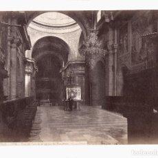 Fotografía antigua: EL ESCORIAL - 1614. VISTA DEL CORO DE LA IGLESIA DEL MONASTERIO. FOTO: J. LAURENT. 24,5X33,5 CM.. Lote 190695892