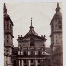 Fotografía antigua: EL ESCORIAL - 316. VISTA DEL PATIO DE LOS REYES. FOTO: J. LAURENT. 24,6X32,6 CM.. Lote 190712081