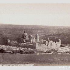 Fotografía antigua: EL ESCORIAL - 49. VISTA DEL MONASTERIO DESDE LA PRESA, FOTO: J. LAURENT. 24X33 CM.. Lote 190713570