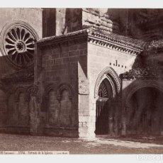 Fotografía antigua: LAS HUELGAS - BURGOS. 1584. ENTRADA DE LA IGLESIA. FOTO: J. LAURENT. 24,6X33,3 CM.. Lote 190717873