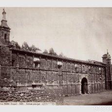 Fotografía antigua: MONASTERIO DE PIEDRA - ARAGÓN. 1627. FACHADA PRINCIPAL. FOTO: J. LAURENT. 23,7X33 CM.. Lote 190718068