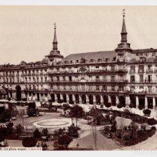 Fotografía antigua: MADRID - 332. LA PLAZA MAYOR. FOTO: J. LAURENT. 25,7X34 CM.. Lote 190719093