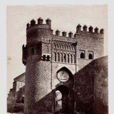 Fotografía antigua: TOLEDO - 19. LA PUERTA DEL SOL. FOTO: J. LAURENT. 25X33,5 CM.. Lote 190719242