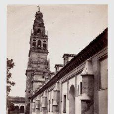 Fotografía antigua: CÓRDOBA - 314. TORRE DE LA CATEDRAL, FOTO: J. LAURENT. 25X33,5 CM.. Lote 190719485