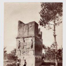 Fotografía antigua: TARRAGONA - 1239. TORRE DE LOS SCIPIONES. FOTO: J. LAURENT. 25X33,5 CM.. Lote 190719686