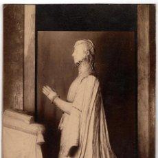 Fotografía antigua: MADRID.- ESTATUA PRINCESA Dª. JUANA. HIJA DE CARLOS V. OBRA DE P. LEONI.- J. LAURENT. 35X25.CM. Lote 191216898