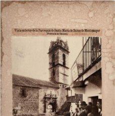 Fotografía antigua: BAÑOS DE MONTEMAYOR.(CÁCERES).- PARROQUIA DE SANTA MARÍA. 49X33. CON PASPARTÚ.. Lote 191285092