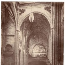 Fotografía antigua: SALAMANCA.- VISTA INTERIOR IGLESIA SANTO DOMINGO. J. LAURENT Y Cª. 33X25.. Lote 191311157