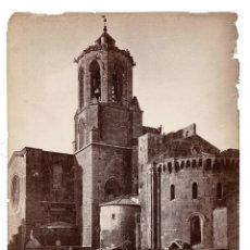 Fotografía antigua: TARRAGONA TORRE Y ABSIDE DE LA CATEDRAL. J. LAURENT Y Cª. 25X34.. Lote 191566410