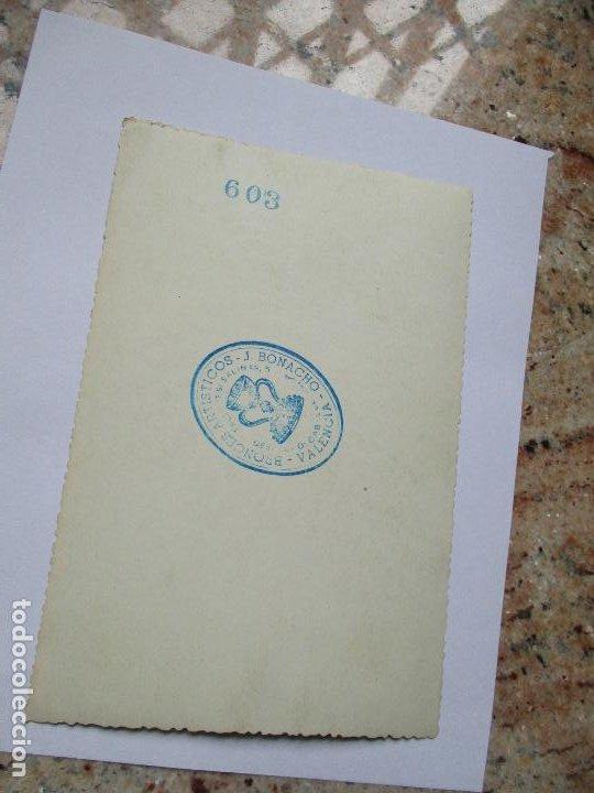 Fotografía antigua: ANTIGUA FOTO(S/F) RELIGIOSA-- -MIDE 17 X 11.5 CM.- CUÑO DE FOTÓGRAFO: J. BONACHO- VALENCIA - Foto 2 - 191574812