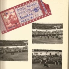 Fotografía antigua: MALAGA PLAZA DE TOROS 27 SEPTIEMBRE 1964 LOTE 3 FOTOS Y ENTRADA SOMBRA FILA 4 - FOTOGRAFÍA ANTIGUA. Lote 191576513