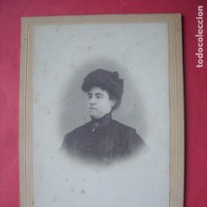 Fotografía antigua: E. SCORZELLI.-ALBUMINA.-MUJER.-FOTOGRAFIA.-VILLANUEVA Y GELTRU.-BARCELONA.. Lote 191607637
