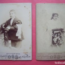 Fotografía antigua: NAPOLEON.-ANTONIO Y EMILIO F. DITS NAPOLEON.-PRIMEROS FOTOGRAFOS REALES.-ALBUMINAS.-PRIMERA COMUNION. Lote 191608052