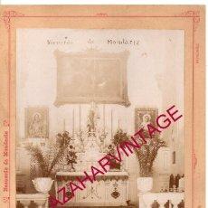 Fotografía antigua: MONDARIZ, RARISIMA ALBUMINA CAPILLA DEL BALNEARIO, VIRGEN DEL CARMEN,16X24 CMS. Lote 191637003