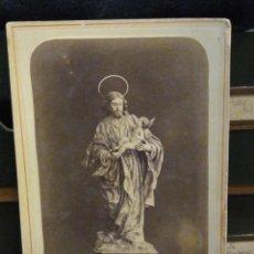 Fotografía antigua: FOTOGRAFÍA. ESCULTURA DE SAN JOSÉ. FOTOGRAFO ALMAGRO MURCIA. TORRETA 5. Lote 191962771
