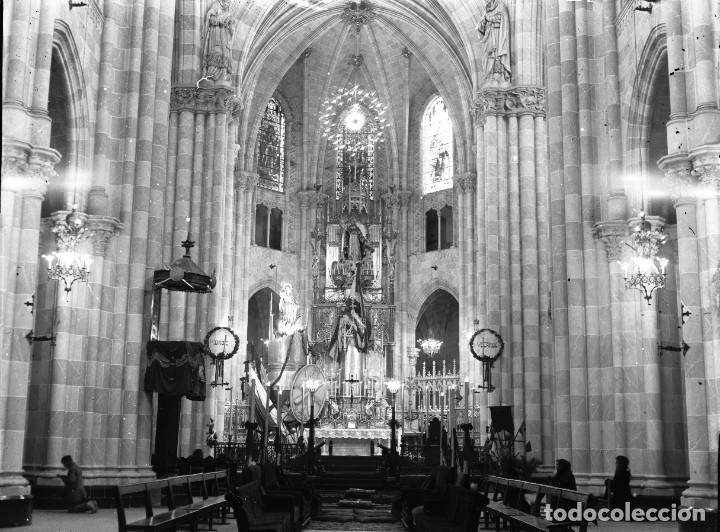 MADRID, IGLESIA ALTAR - CLICHE ORIGINAL NEGATIVO EN CRISTAL - AÑOS 1910-1920 (Fotografía Antigua - Albúmina)